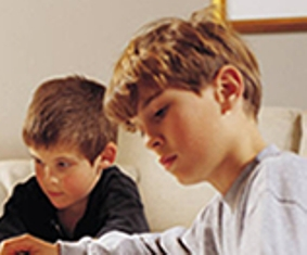 boy studying picture