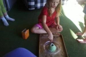 making volcano model