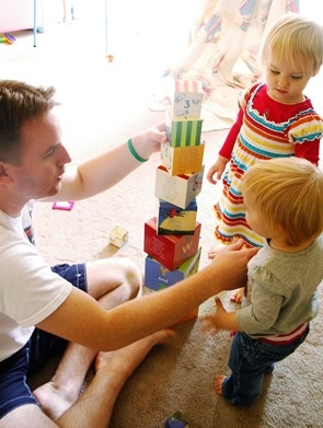 father kids playing  pictures