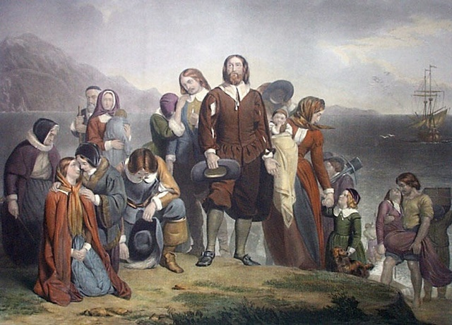pilgrims thanks giving picture