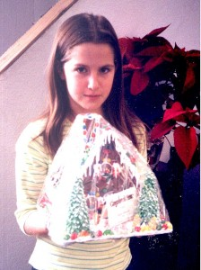 girl with gingerbread house picture