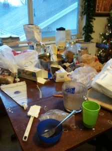 picture of messy kitchen