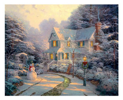 white Christmas Poster picture