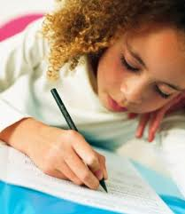 girl writing pictures
