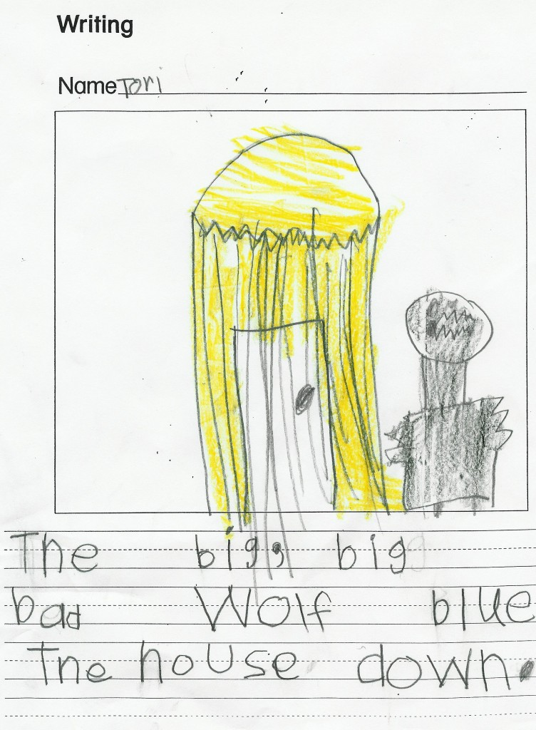 childs writng pictures
