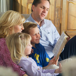 family reading time images
