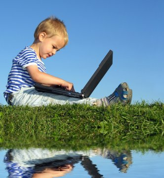 kid with laptop pictures