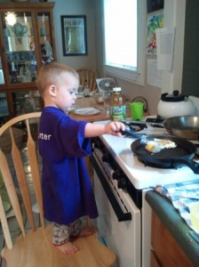 little boy cooking picture