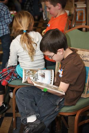 boy reading story pics