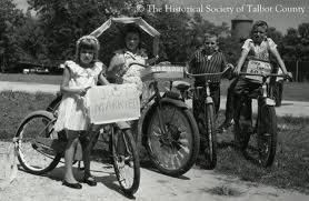 kids bicycle vintage picture