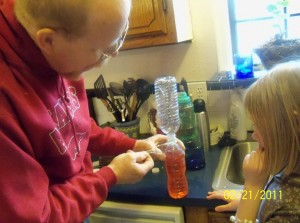 making tornado in bottle pictures