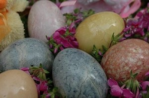 dyed easter eggs pictures