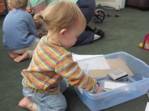 kid exploring picture