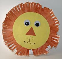 paper plate lion head pics