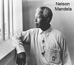 picture of Mandela in prison
