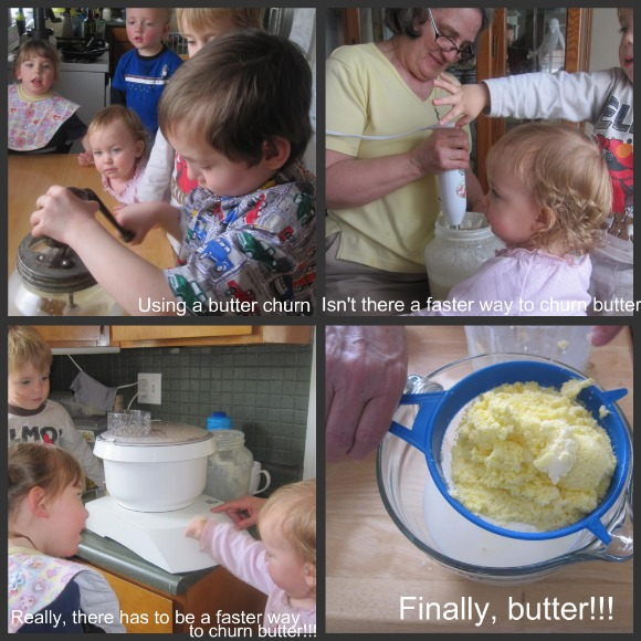 butter making process pictures