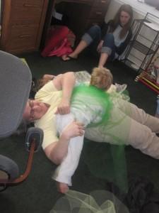 grandma kid wrestling picture