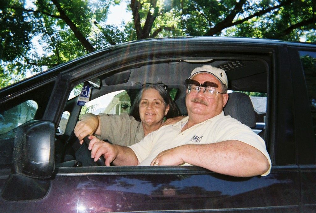 old couple driving picture