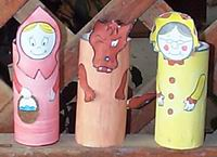red riding hood puppets pic