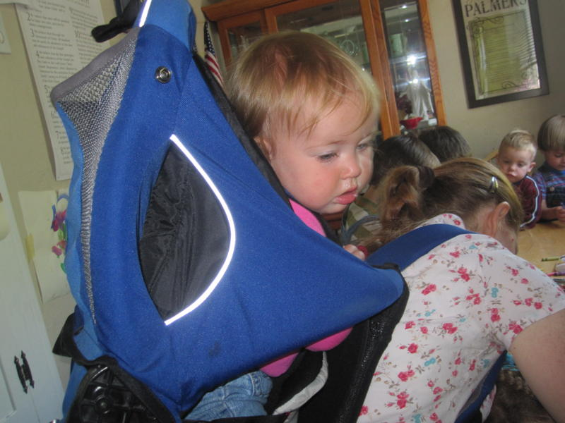 baby in backpack picture