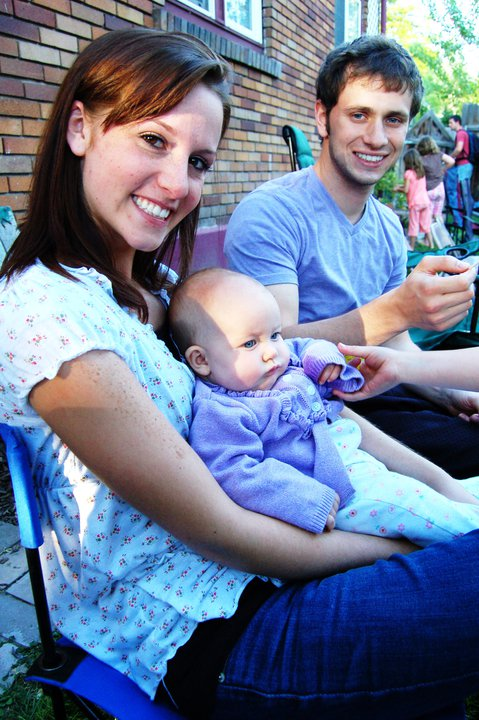 couple with baby pictures