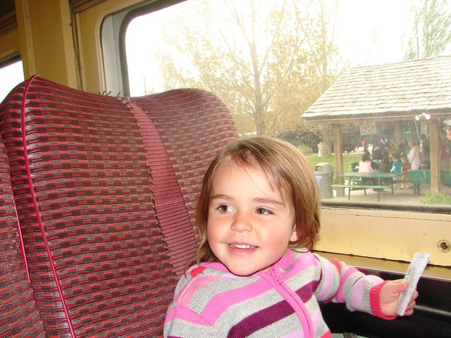 little girl on train pictures
