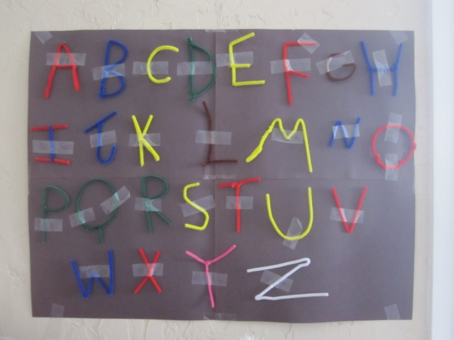 pipe cleaner letters picture