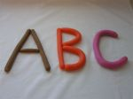 play dough letters picture