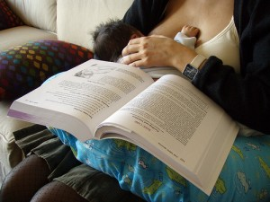 reading with babies pictures