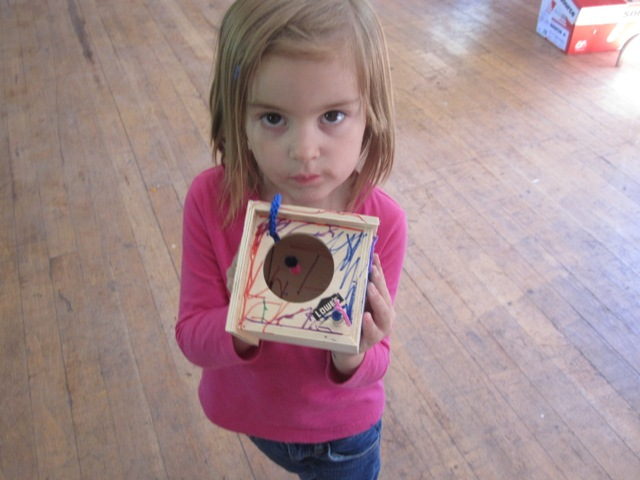 girl with her bird house picture
