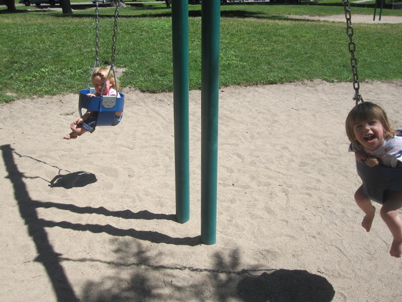 kids in swing pictures
