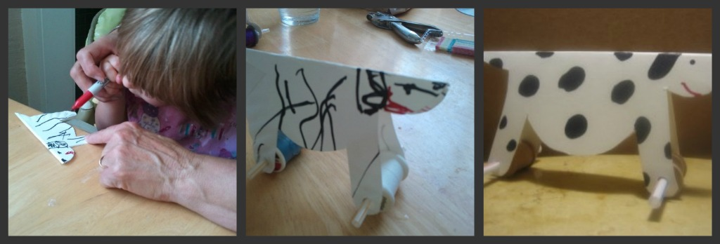 making rolling toy dog pictures
