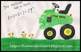 footprint tractor and thumbprint chicks picture