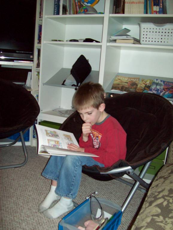 kid reading thinking picture