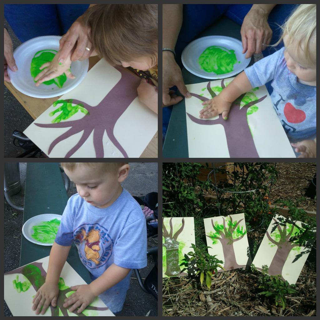 kids doing apple crafts images