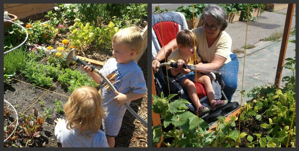 kids in garden pictures