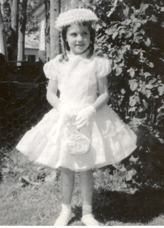 vintage photo of me as a little girl