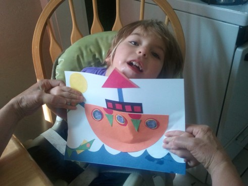 little girl with her ship picture
