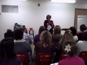 picture of mary ann conducting a workshop