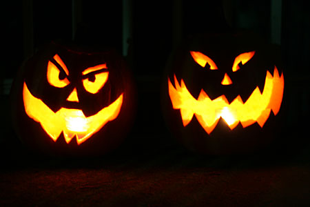 scary halloween pumpkins picture