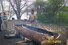 Wampanoag canoes picture