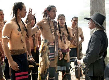 Wampanoag indians with pilgrims picture