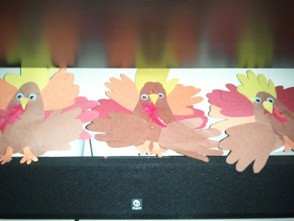 finished turkey craft picture