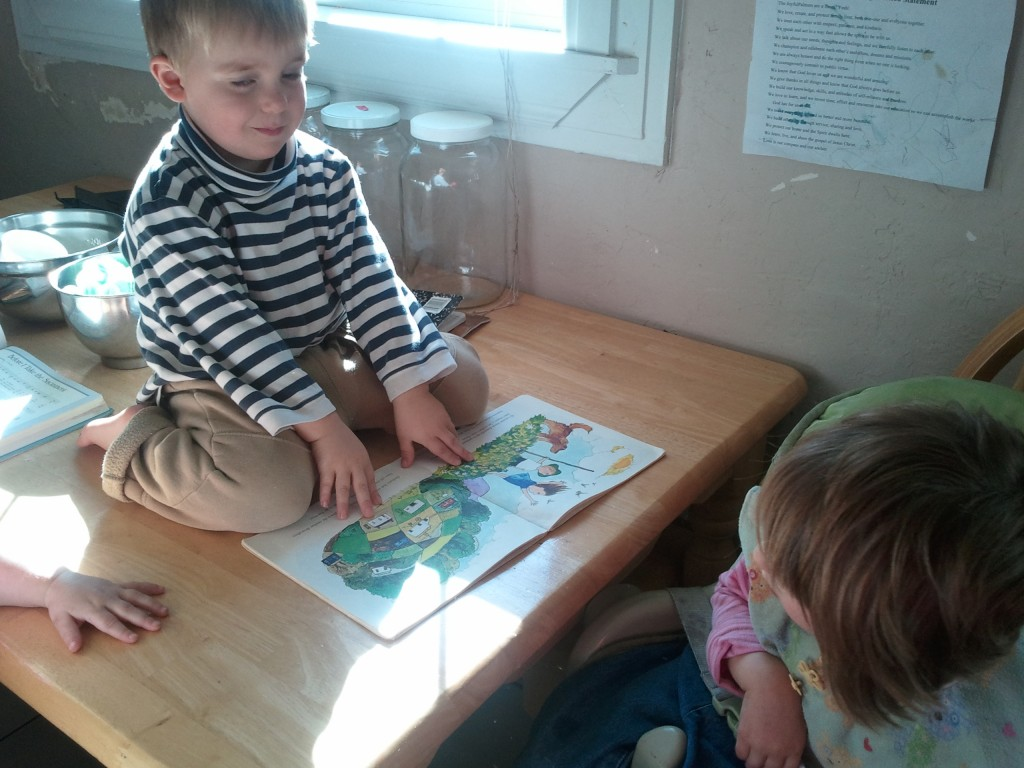 kids reading books about seasons picture