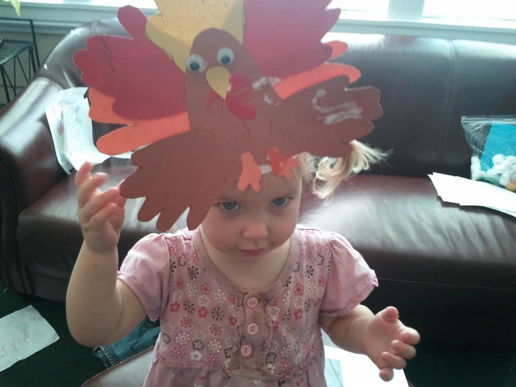 little girl in turkey crown picture