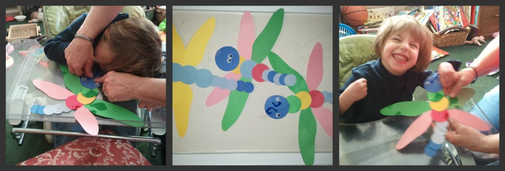 paper dragonfly craft picture