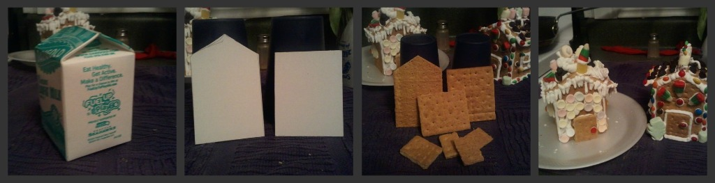 steps of making gingerbread house