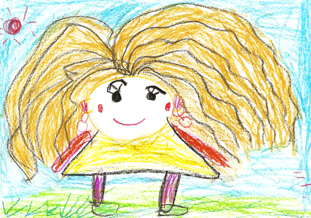 child crayon drawing