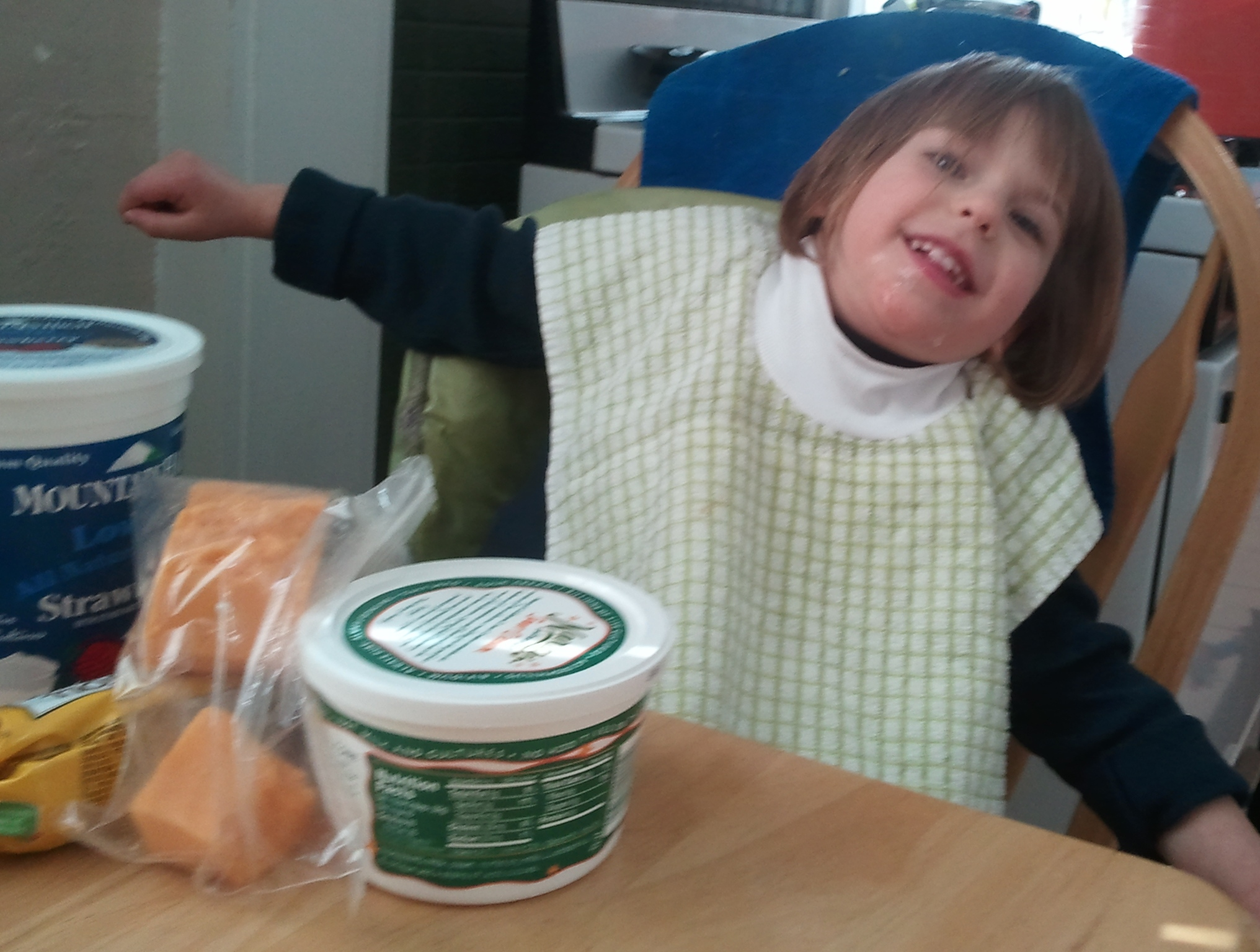 kids tasting milk products
