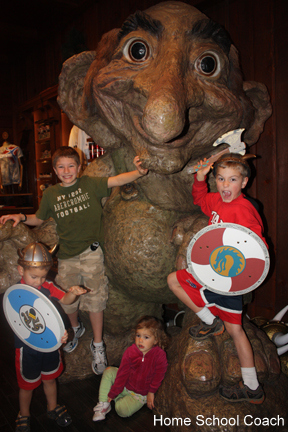 kids being Vikings at Epcot